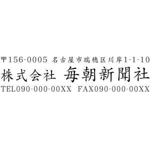 会社印8 社印 住所印 ブラザースタンプ 有効印面サイズ23mmx66mm