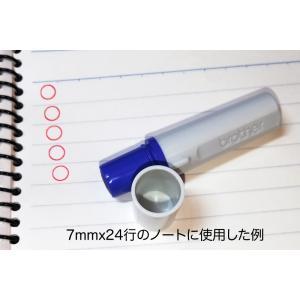 ◯丸マーク直径約5mmスタンプ シャチハタ式 ブラザー訂正印