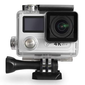 防水カメラ マリンスポーツ ダイビング プール 海 ジョワイユJOYEUX 4K WiFi 400万画素対応 1080P対応 アクションカメラPRO  SV シルバー|dstyleshop