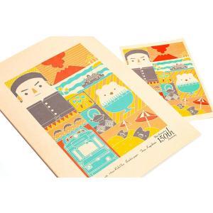 鹿児島グッズ 西郷どんグッズ 西郷隆盛 薩摩藩  西日本印刷 AIKAGO サツマノート B5 鹿児島世界遺産デザイン|dstyleshop