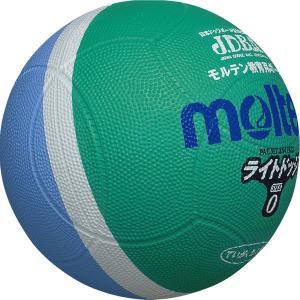 molten(モルテン) ドッジボール ライトドッジ 軽量0号球 緑×サックス SLD0MSK|dstyleshop
