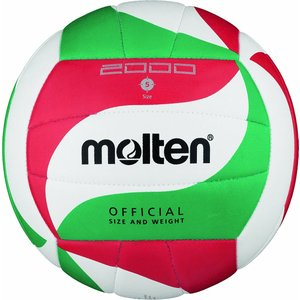 Molten V5M2000 Ballon de volley-ball Blanc/vert/rouge Taille 5 dstyleshop