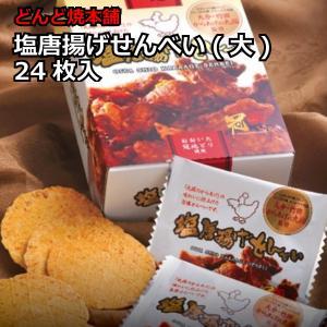 大分県 お土産 煎餅 お取り寄せ グルメ ギフト どんど焼本舗 塩唐揚げせんべい(大) 24枚入