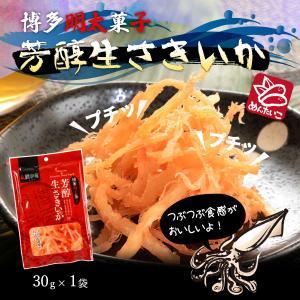 送料無料 ポッキリセール 鱈卵屋 博多明太子 芳醇生さきいか 30g|dstyleshop
