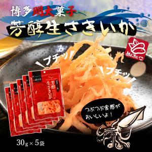 お得 大人気 送料無料 ポッキリセール 鱈卵屋 博多明太子 芳醇生さきいか 30g 5袋セット|dstyleshop