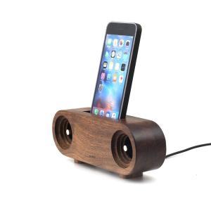 スマホ アクセサリー 周辺機器 アウトドア iphone インテリア Ollim 天然木製スピーカースタンド Ollim Y02|dstyleshop