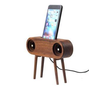 スマホ アクセサリー 周辺機器 アウトドア iphone インテリア Ollim 天然木製スピーカースタンド Ollim Y03|dstyleshop