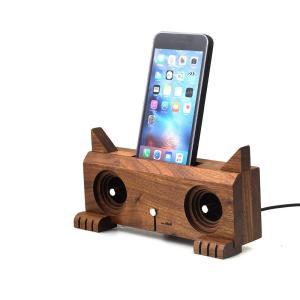 スマホ アクセサリー パーティー アウトドア iphone インテリア 猫 Ollim 天然木製スピーカースタンド Ollim K04a|dstyleshop