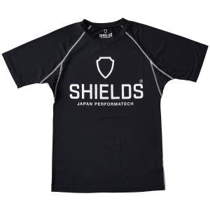 シールズ Tシャツ ソフトストレッチ 吸汗速乾 UVカット GP-6018 ブラック|dstyleshop