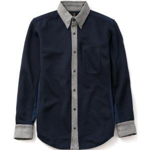 シールズ シャツ キルティングツイードシャツ TREK & TURF フットゴルフウェア メンズ SHFG-1510|dstyleshop