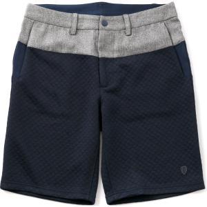 シールズ パンツ ショートパンツ キルティングツイード TREK & TURF フットゴルフウェア SHFG-1511 ネイビー Sサイズ|dstyleshop