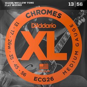 D'Addario ECG26 Flat Wound 3弦ワウンド 013-056 ダダリオ フラットラウンド エレキギター弦|dt-g-s