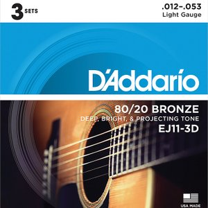 3セットパック・D'Addario EJ11 Light 0...
