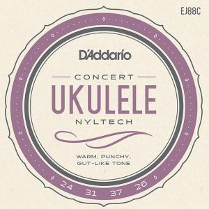 D'Addario Nyletech EJ88C Concert ダダリオ ナイルテック ウクレレ弦 コンサート|dt-g-s