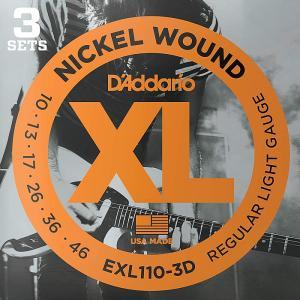 3セットパック・D'Addario EXL110-3D Nickel Wound 010-046 ダダリオ エレキギター弦|dt-g-s