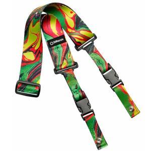 DiMarzio Steve Vai ClipLock Art Strap Green Universe DD2241 ディマジオ クリップロック ストラップ|dt-g-s