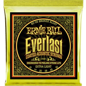 Ernie Ball Everlast Coated #2560 Extra Light 010-050 アーニーボール 80/20ブロンズ アコギ弦
