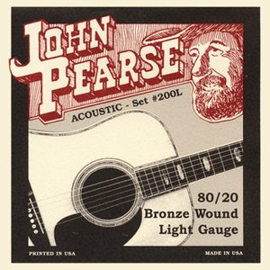 John Pearse #200L Light 012-053 ジョン ピアース 80/20ブロンズ...
