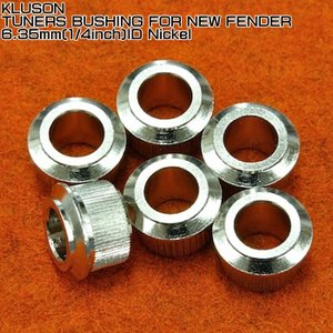 Kluson Tuner Bushings for Fender 1/4 inch ID Nicke...