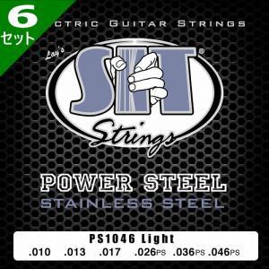 6セット・SIT Power Steel PS1046 Light 010-046 エスアイティー エレキギター弦|dt-g-s