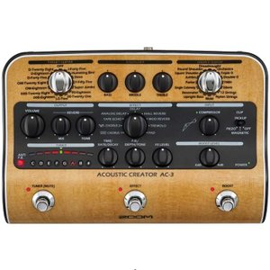 アコースティック専用設計の高品位プリアンプに、音の粒立ちを整えるコンプレッサーと9種類の空間系エフェ...