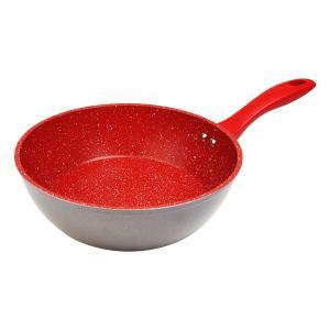 フレーバーストーン 24cm ディープパン     レッド ブロンズゴールド フライパン 鍋 正規品...