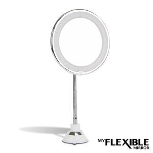 マイフレキシブルミラー    鏡 拡大鏡 メイク 10倍 拡大 LEDライト【po】