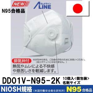 日本製 PM2.5 対応マスク シゲマツ 使い捨て式防じんマスク DD01V-N95-2K 呼吸がしやすい排気弁付き 名刺サイズ個包装 10枚入1箱 重松製作所 極品口罩|dubian