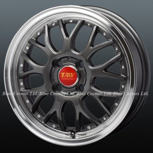 RM9 軽用15インチ『Leowing RM9/レオウィング アールエム9』165/50R15 165/55R15タイヤ付セット『15-5.0JJ』『4H-PCD100』グロスガンメタリック|duc-by-ulysses-inc