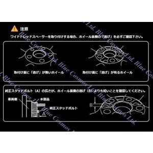 送料無料 高強度アルミ鍛造ブラックワイドトレッドスペーサー4H-100-『P1.5』15mm 2枚セット『代引き不可』|duc-by-ulysses-inc|05
