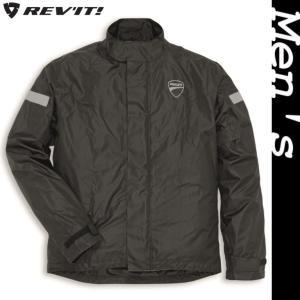 ★Strada 2 レインスーツジャケット 黒 サイズL (with REV'IT)|ducatiosakawest