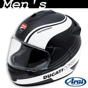 ★Ducati Corse SBK 3 フルフェイスヘルメット サイズL 黒/白 (with Arai) ducatiosakawest