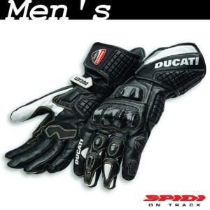 ★2018MODEL★Ducati Corse C3 レザーグローブ 黒 サイズL (with SPIDI)|ducatiosakawest