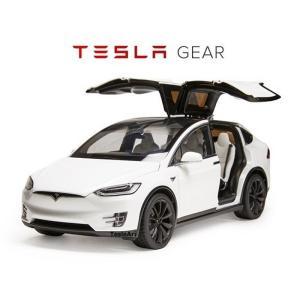 TESLA Diecast 1:18 Scale Model X P100D テスラ純正品 ダイキャスト 1/18 モデルX パールホワイトマルチコート モデルカー ミニカー|ducatism
