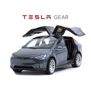 TESLA Diecast 1:18 Scale Model X P100D テスラ純正品 ダイキャスト 1/18 モデルX ミッドナイトシルバーメタリック モデルカー ミニカー|ducatism