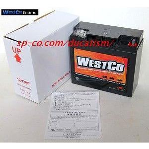 WestCo 12V20P MKバッテリー 正規輸入品・1年間保証 BMW 純正品番19A 51913・51814|ducatism