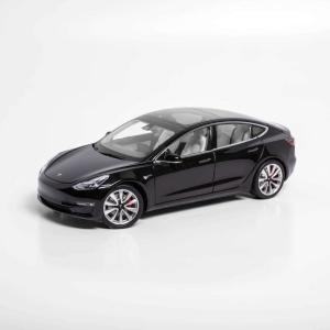 TESLA Diecast 1:18 Scale Model 3 テスラ純正品 ダイキャスト 1/18 モデル3 ブラック モデルカー ミニカー ducatism