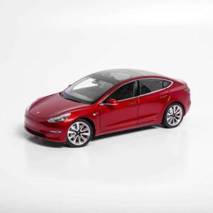 TESLA Diecast 1:18 Scale Model 3 テスラ純正品 ダイキャスト 1/18 モデル3 マルチコートレッド モデルカー ミニカー|ducatism