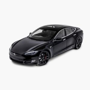 TESLA Diecast 1:18 Scale Model S P100D テスラ純正品 ダイキャスト 1/18 モデルS ブラック モデルカー ミニカー|ducatism