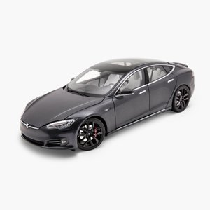 TESLA Diecast 1:18 Scale Model S P100D テスラ純正品 ダイキャスト 1/18 モデルS 2019 ミッドナイトシルバーメタリック  モデルカー ミニカー|ducatism
