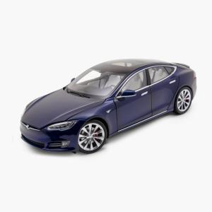 TESLA Diecast 1:18 Scale Model S P100D テスラ純正品 ダイキャスト 1/18 モデルS Deep Blue モデルカー ミニカー|ducatism