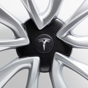 TESLA Model 3 Carbon Fiber Wheel Cap Kit テスラ モデル3 カーボンファイバー ホイールキャップ キット 純正品|ducatism
