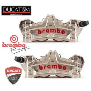 5月セール  brembo GP4-MS HPラジアル モノブロック CNCキャリパー 左右set ニッケルコート 100mm 220.D600.10 ブレンボ レーシング DUCATI ducatism
