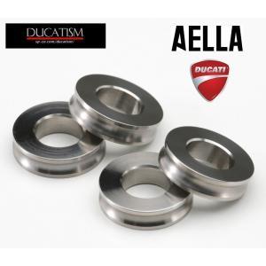 アエラ DUCATI Panigale V4 チタンブレーキキャリパーサポートカラー(4個セット)パニガーレ V4 ドゥカティ AELLA AT-W0005|ducatism