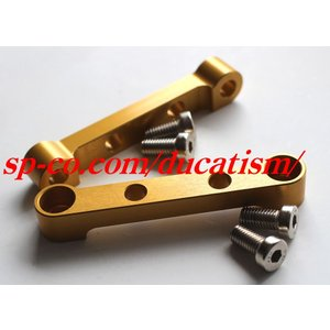DUCATI  F1/F3/ベベル用 280/300mmキャリパーブラケット左右set ゴールドアルマイト|ducatism