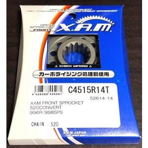 XAM JAPAN(ザムジャパン)C4515R14T C4515R15T Fスプロケット 520 DUCATI 996R/998R/Monster1100Evo/848Evo/1098R/1198R..(AFAM 52614品番)|ducatism