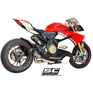"SCプロジェクト SC-PROJECT DUCATI 1199 Panigale/S/R コレクターパイプ & S1 カーボンサイレンサー (Carbon Silencer)""RACING""