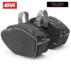GIVI EA101B サイドバッグ EASY 30Lx2 ソフト セミハード バッグ DUCATI Panigale V4 1299 1199 Monster 1200 1100 evo 796|ducatism