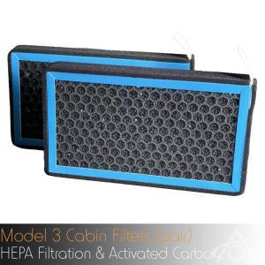 あすつく 5月セール TESLA モデル3 用 HEPA フィルター テスラ HEPA Cabin Air Filters for Model 3 1台分2個set 2019-2021年モデル対応 モデルY Model Y|ducatism