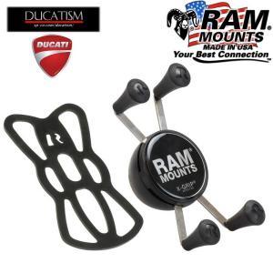 RAM Mounts Xグリップハンドルバーマウント Universal X-Grip ホルダー RAM-HOL-UN7BU iPhone7/8/X対応!|ducatism